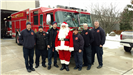 Santa with Fire Department
