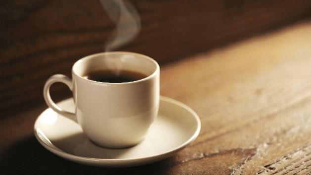 Coffee cup with steam rising
