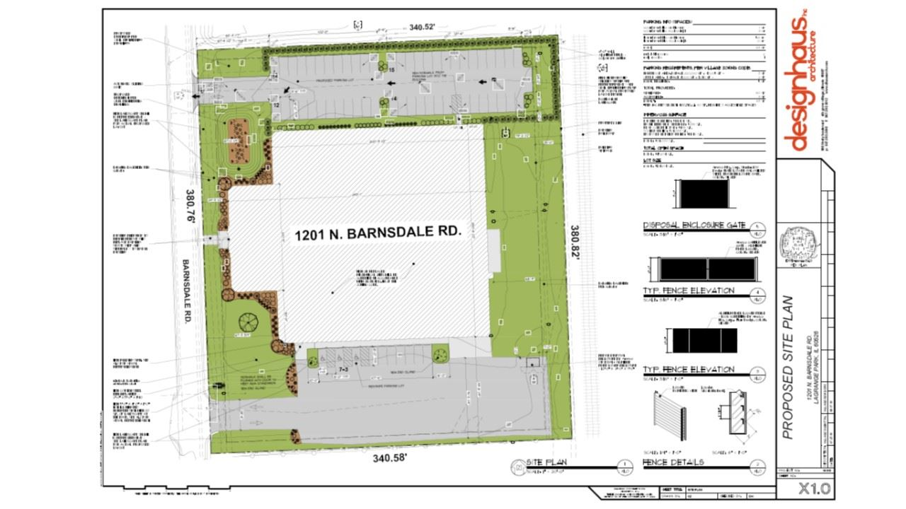 1201 Barnsdale Site Plan