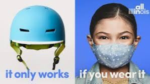 It only works if you wear it - illinois face mask campaign